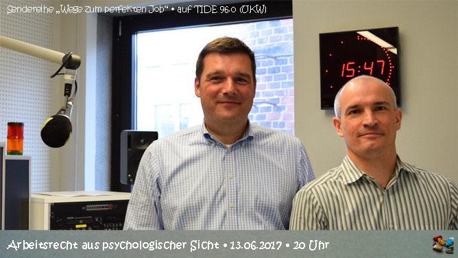 """Radiosendung """"Arbeitsrecht aus psychologischer Sicht"""" auf TIDE 96.0 zum Nachhören"""
