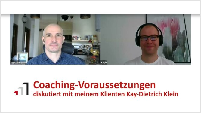 Video: Coaching-Voraussetzungen diskutiert mit einem Klienten